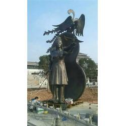 城市现代人物铜雕_优质产品信誉可靠-河北铜雕塑厂家图片