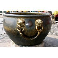 高度1米铜缸雕塑 铜缸雕塑 大铜缸工艺品