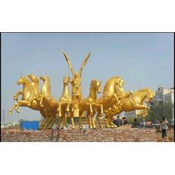 大铜马雕塑定制-恒保发铜雕塑厂支持定制-孝感大铜马图片