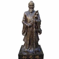 内蒙古十大名医铜雕-铸铜洪葛雕塑-2米十大名医铜雕图片
