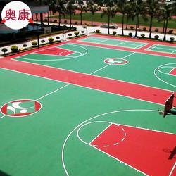 硅PU篮球场铺设平谷区网球场工程延庆区篮球场施工图片