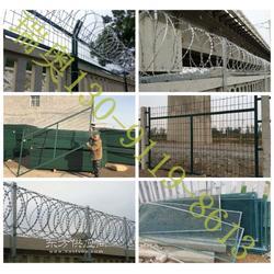 刺丝滚笼安装_刀片刺丝滚笼防护栅栏_防护栅栏网片图片