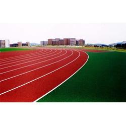 学校塑胶跑道铺装材料有哪些、峰奥(在线咨询)、塑胶跑道图片