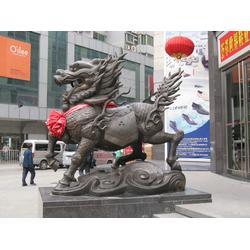 雌雄铜麒麟雕塑,怡轩阁铜雕厂,澳门铜麒麟图片