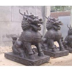 铸铜麒麟雕塑、怡轩阁雕塑、江苏铜麒麟图片