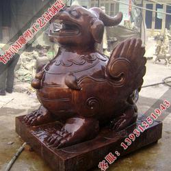 四川喷水铜貔貅,怡轩阁雕塑,喷水铜貔貅雕塑图片