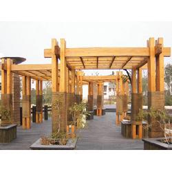 龙圣防腐木|碳化木廊架工程造价|赣州碳化木廊架图片