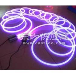 4mm通体光纤/汽车发光条/侧光光纤/LED发光棒/透明无色导光条 通体发光图片