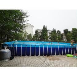 大型充气水池水上步行球儿童充_充气水池_乐之源图片