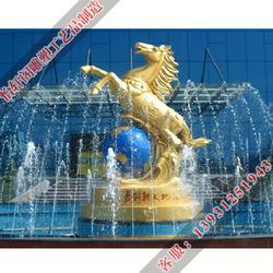 防城港铜马|铜马景观雕塑|怡轩阁雕塑厂图片