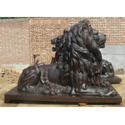 青铜狮子厂家、贵州铜狮子、怡轩阁铜工艺品图片