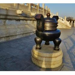 仿古铜香炉 澳门铜香炉 怡轩阁雕塑图片