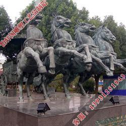 宝鸡铜马-怡轩阁铜雕制作-铜马景观雕塑图片