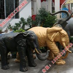 马鞍山铜大象、铸铜大象厂家、怡轩阁雕塑图片