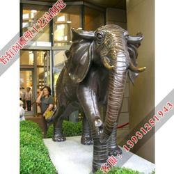 汕头铜大象|怡轩阁雕塑|铜大象定做图片