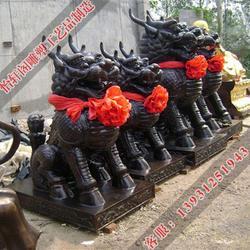 台湾铜麒麟雕塑、怡轩阁雕塑、风水铜麒麟雕塑图片