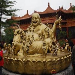 百色弥勒佛铜像、怡轩阁雕塑、加工弥勒佛铜像图片