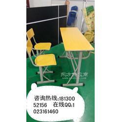 板式辅导班培训桌 钢架学生课桌椅 书桌图片