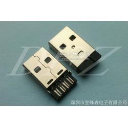 DFZ-GS018 USB2.0 AM 短体焊线一体式黑胶公头图片