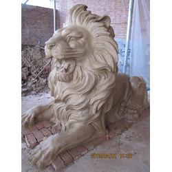 玻璃钢狮子雕塑_鑫禄雕塑(在线咨询)_玻璃钢狮子图片