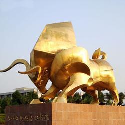 内蒙古开拓铜牛、开拓铜牛重量、鑫禄雕塑(优质商家)图片