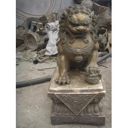 长沙铜狮子、工艺术品铜狮子、鑫禄雕塑(优质商家)图片