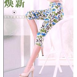 明兄制衣,女裤曲线(图)、时尚印花裤、印花裤图片