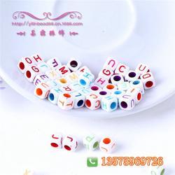 易霖饰品|透明字母珠|塑料珠图片