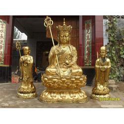 荣昌雕塑(图)_大型贴金地藏王雕塑_辽宁贴金地藏王雕塑图片