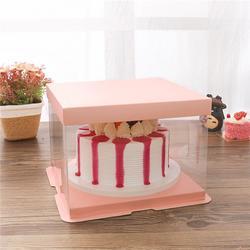 手提白卡蛋糕盒定制、透明蛋糕盒图片