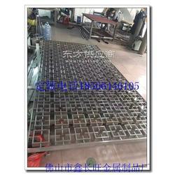 供应不锈钢中式花格镂空PF-XCW-03玫瑰金屏风定做图片