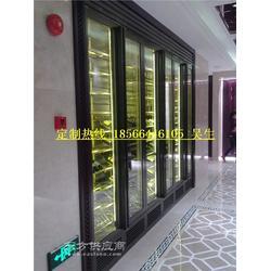 供应酒店星级品质不锈钢电子恒温酒柜,红酒架定做图片