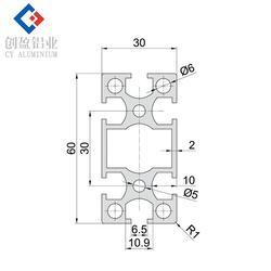 3030国标铝型材供应商|3030国标铝型材|创盈铝业图片