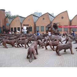 纯铜铜狼铜器厂家、汇丰铜雕图片