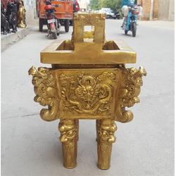 黄铜诚信鼎雕塑,汇丰铜雕,黄铜诚信鼎图片