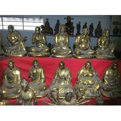 十八罗汉铜雕塑贴金铜佛像厂家_汇丰铜雕(在线咨询)图片