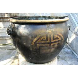 1米铜缸铸造、铜缸铸造、汇丰铜雕图片