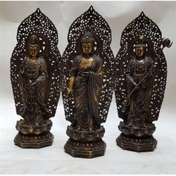 贴金彩绘铜佛像黄铜制作,汇丰铜雕图片