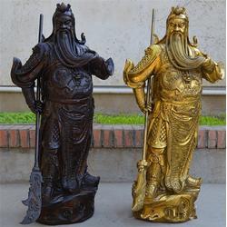 春秋铜关公、汇丰铜雕、春秋铜关公雕塑图片