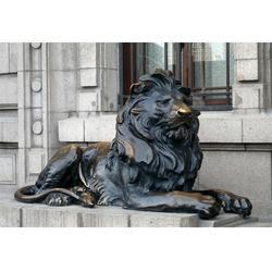 黑龙江铜狮子铸造-汇丰铜雕-故宫铜狮子铸造图片