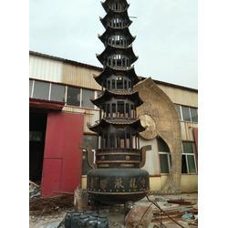 铜香炉雕塑_汇丰铜雕(在线咨询)_寺庙大型铜香炉雕塑图片