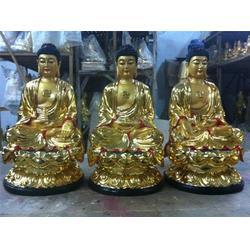 汇丰铜雕,坐着的西方三圣佛铜雕,西方三圣佛铜雕图片