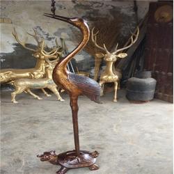 汇丰铜雕(图),园区大型仙鹤铜雕摆件,仙鹤铜雕图片