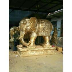 园林摆放大象铜雕塑、大象铜雕塑、汇丰铜雕图片