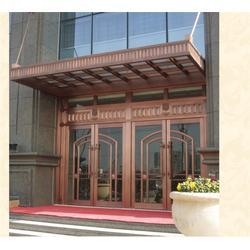 仿铜门铝型材,平顶山仿铜门,兆鸿门业图片
