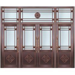 青州仿铜门|玻璃仿铜门|兆鸿门业(优质商家)图片