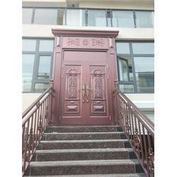 湖北铝合金仿铜门、铝合金仿铜门订购、兆鸿门业(推荐商家)图片