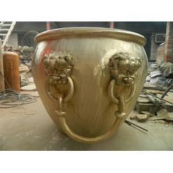 直径2米铜大缸|河南铜大缸雕塑|领航铜雕图片