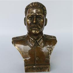 斯大林半身像厂家报价-卫恒铜雕图片