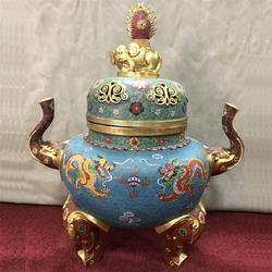 卫恒铜雕(多图)抚州三足铜香炉制品图片